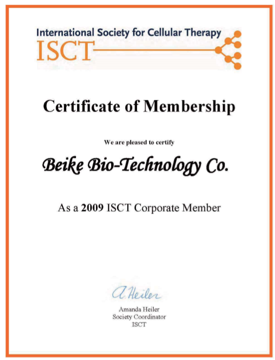 23 Century International Society for Cellular Therapy Certification